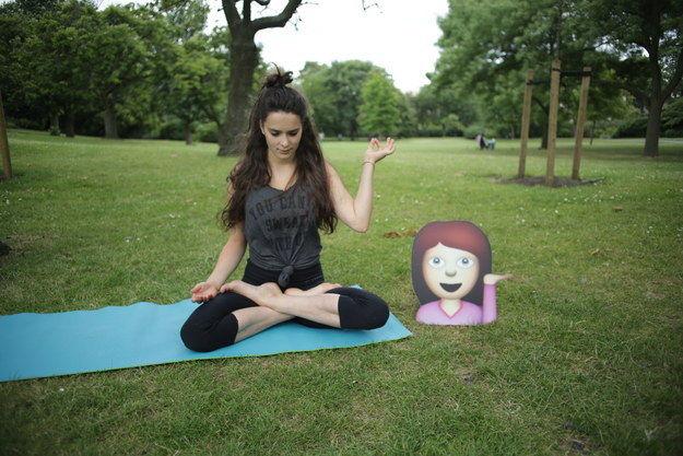 Emoticon Themed Yoga