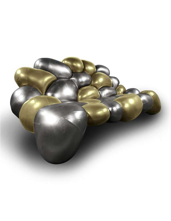 Metallic Stone Seating
