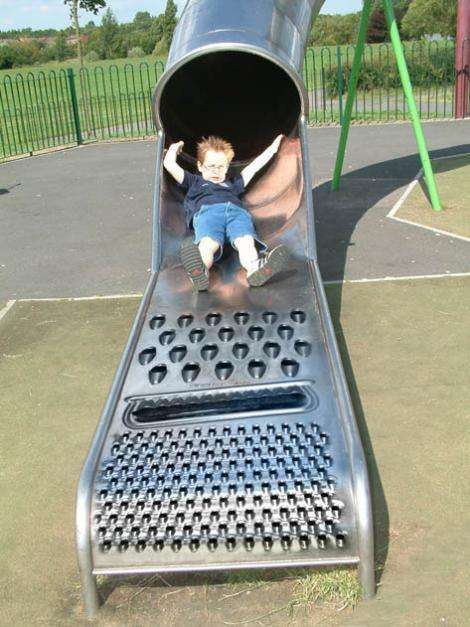 Cheese Grater Park Slides