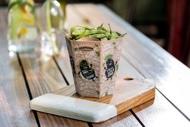 Upcycled Edamame Packages