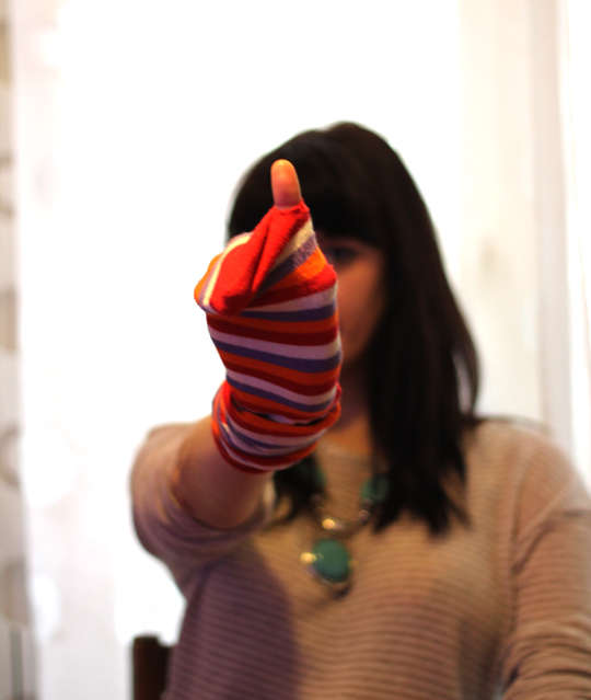 Upcycled Sock Gloves