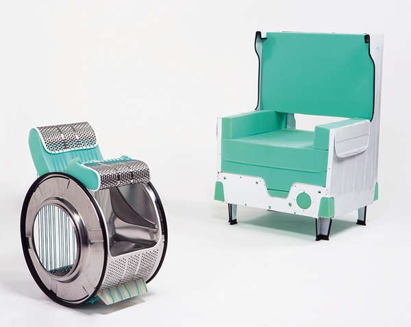 Upcycled Washing Machine Chairs