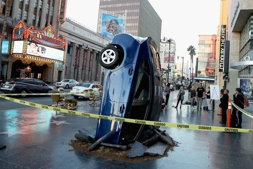 Upended Car Displays