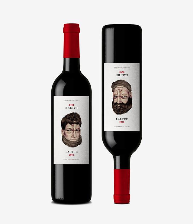 Topsy-Turvy Wine Bottles
