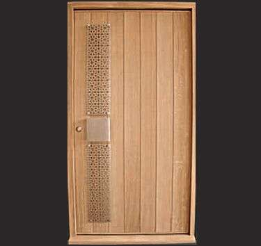 Modern panel doors geometry inspired designs for sleek for Modern front door decor