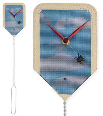 Urban Outfitter time flies clock flyswatter