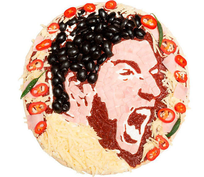 Athlete Pizza Portraits