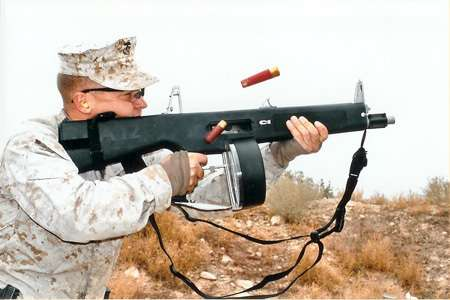 Automatic Shotgun Fires 300 Rounds/Min