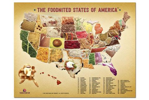 Edible Patriotic Food Maps