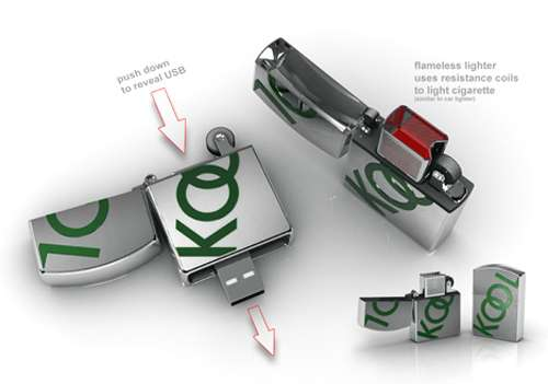 Flameless USB Zippo