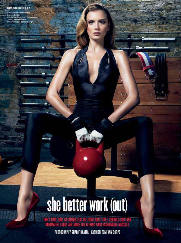 V Magazine She Better Work Out