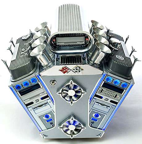 V8 Engine Computer Case