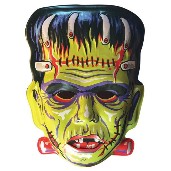 Retro Halloween Wall Masks