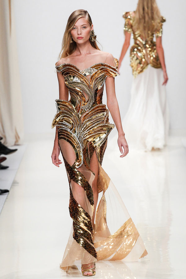 Brilliantly Intricate Metallic Fashions