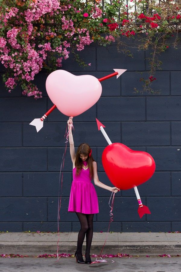 DIY Cupid's Heart Balloons