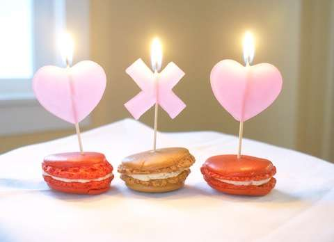 DIY Valentine Dessert Candles