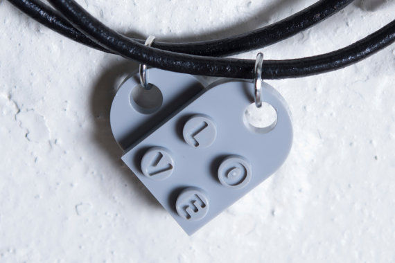 Geeky Brick Heart Jewelry