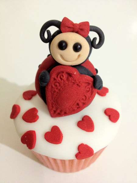 Heart-Studded Cupcakes
