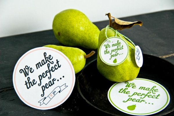 Puny Printable Pear Labels