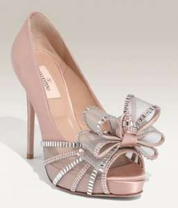 elegant fairy tale footwear  valentino crystal bow pumps