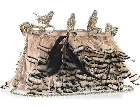 valentino crystal embellished feather