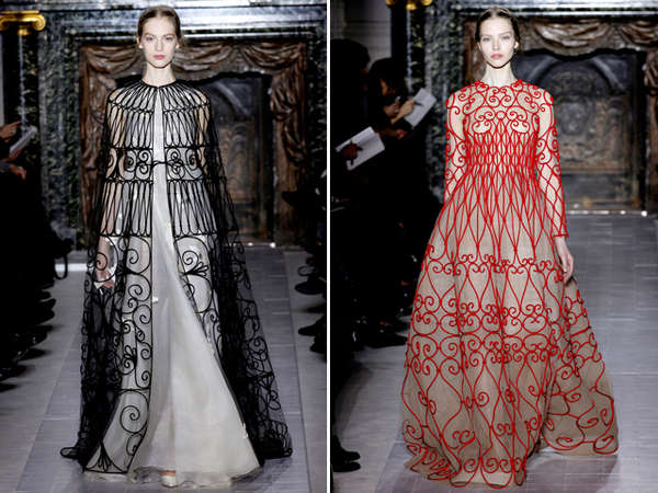 Elegantly Embroidered Gowns