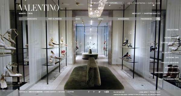 Valentino Virtual Shoe Room