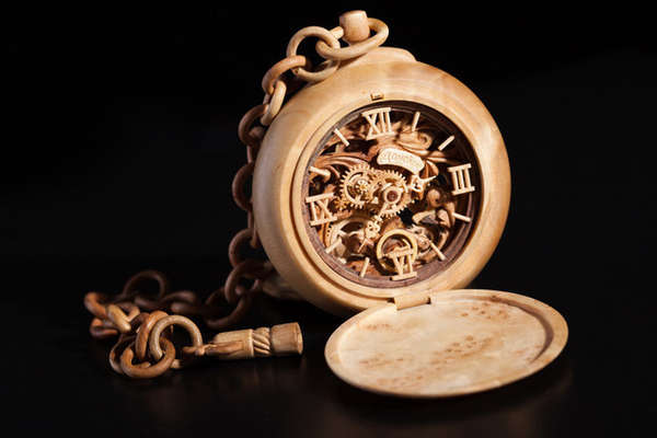 Miniature Wooden Timepieces