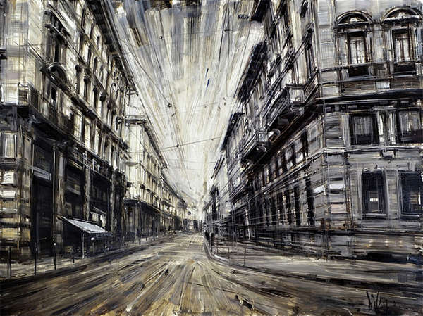 Dramatically Blurred Oil Paintings