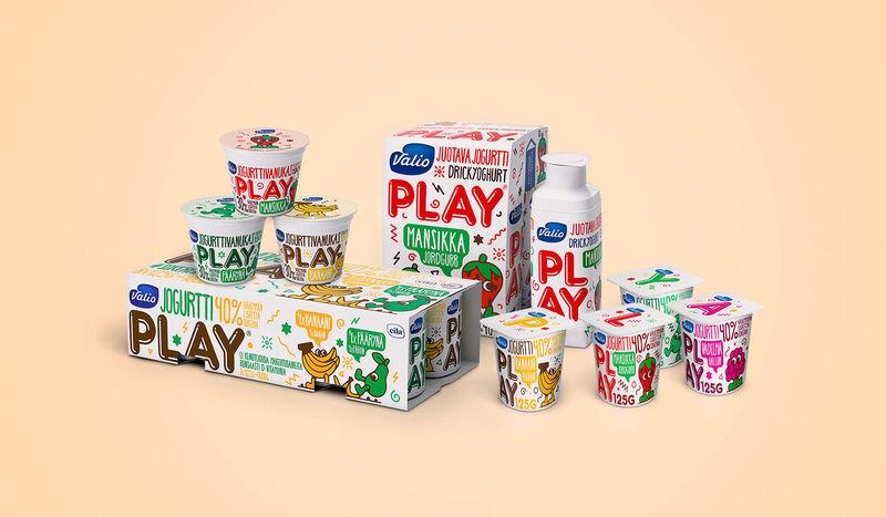 Emoji Fruit Yogurt Branding