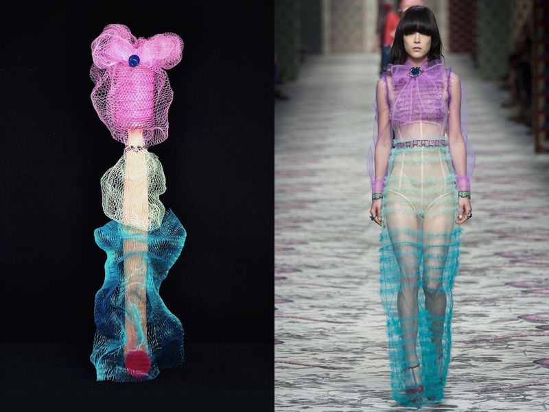 Fashion-Mimicking Sculptures