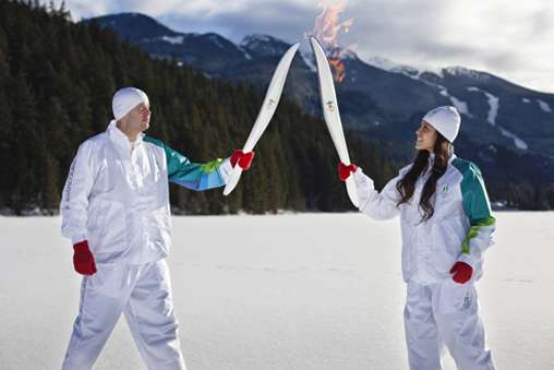 Rolled-Up Olympic Torches