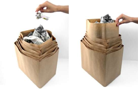 Layered Sack Receptacles