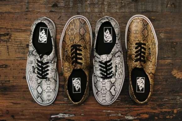 Slithering Snakeskin Sneakers