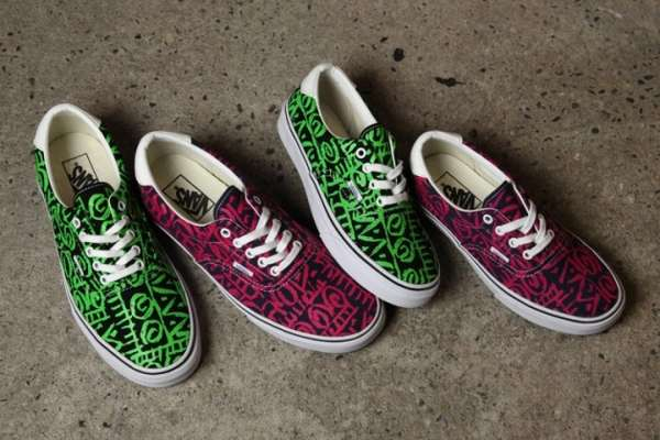 Electric Tribal-Printed Sneakers