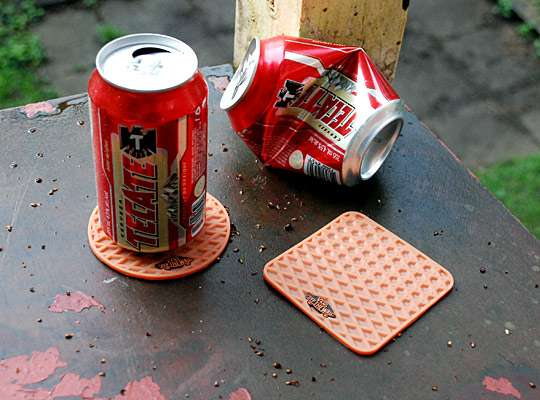 Shoe Sole-Inspired Coasters
