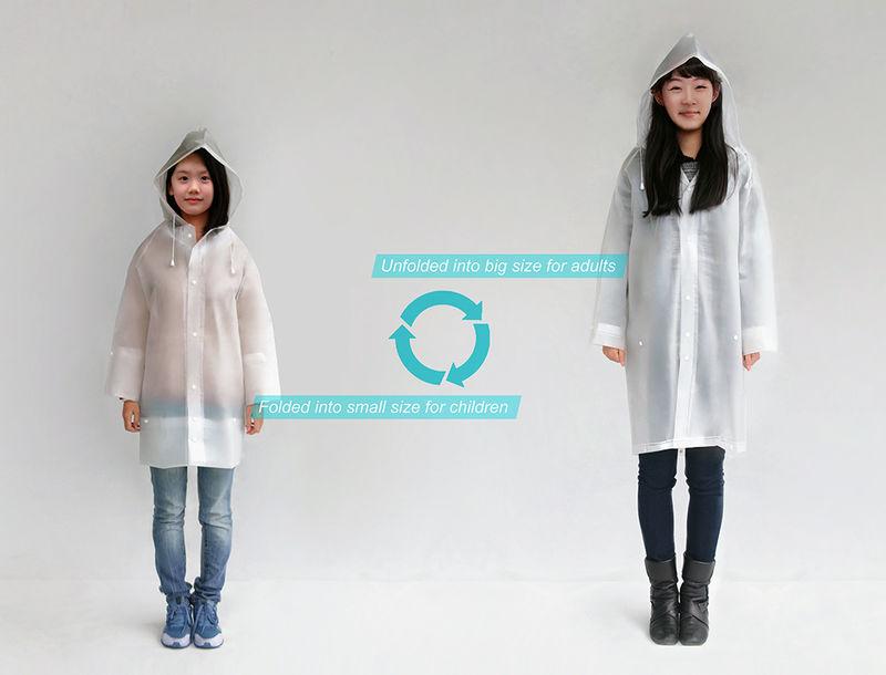 Size-Adjusting Raincoats