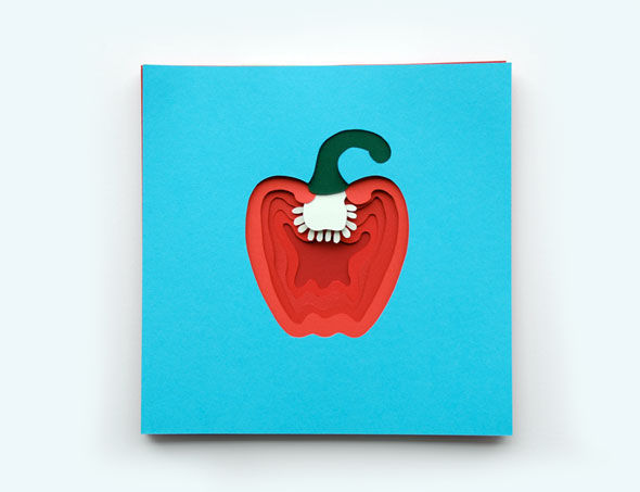 Paper-Crafted Produce