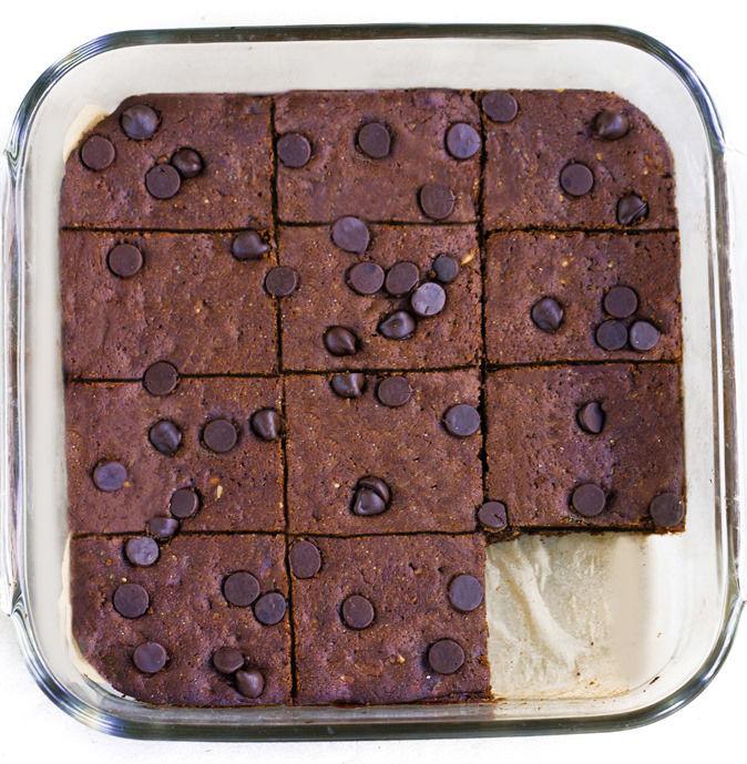 Gooey Almond Butter Brownies