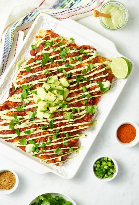 Indulgent Vegan Enchiladas