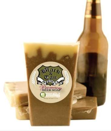 Vegan organic beer soap