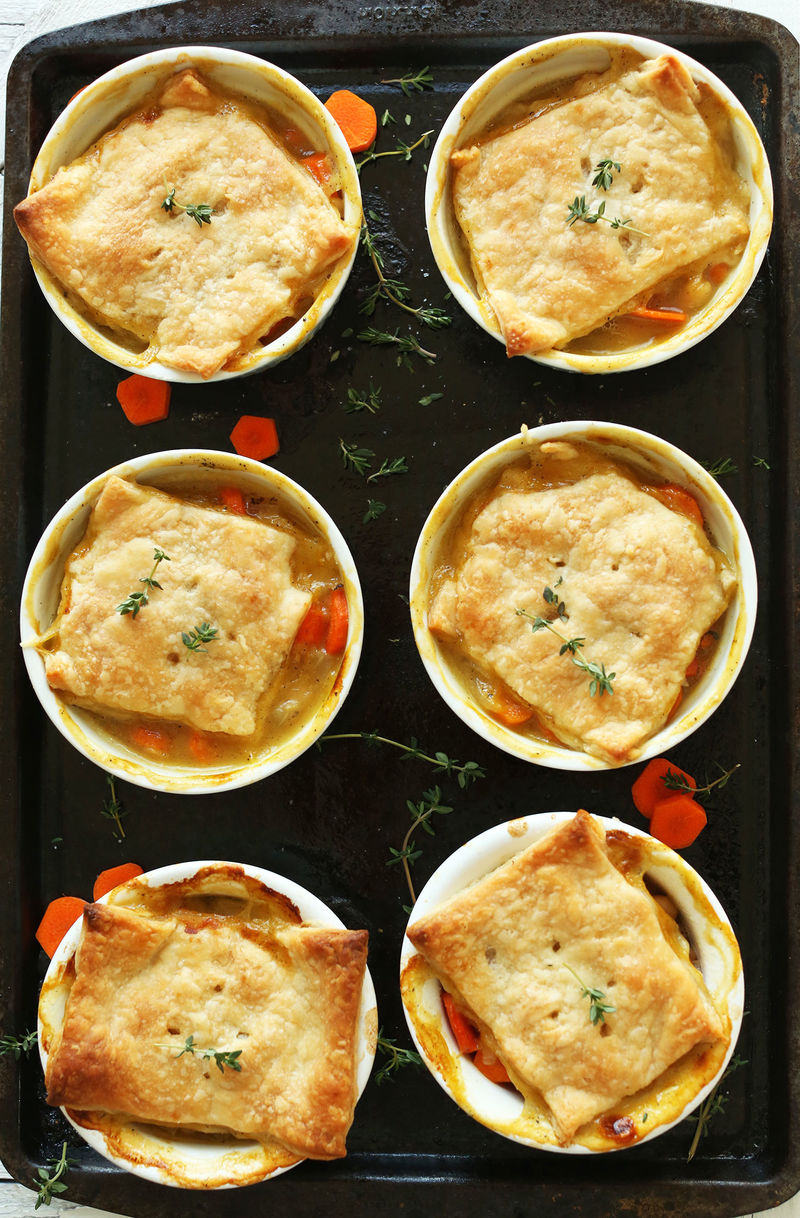 Hearty Vegan Pot Pies