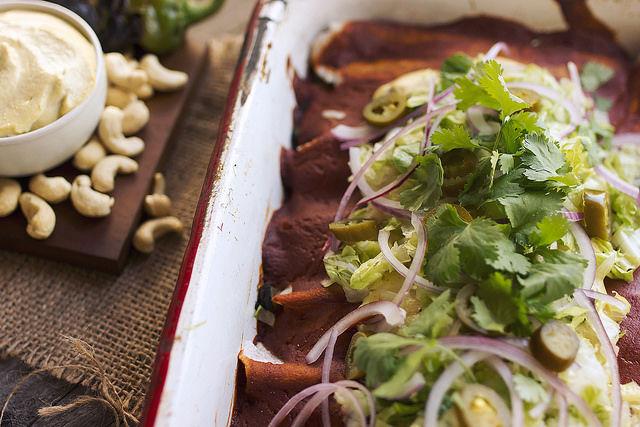 Grain-Free Vegetarian Enchiladas