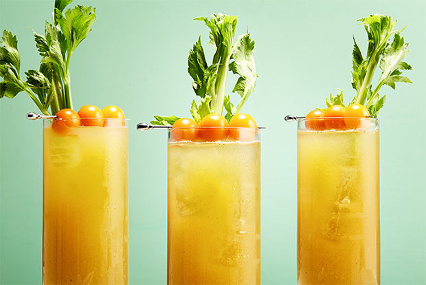 Golden Veggie Cocktails