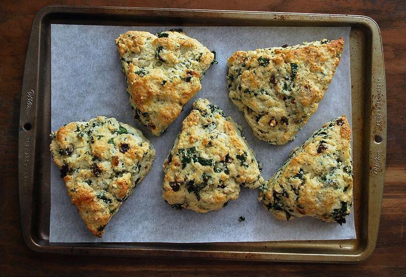 Healthy Kale Scones