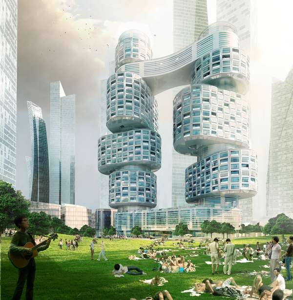 velo towers by asymptote architects