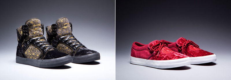 Baroque Velvet Sneakers