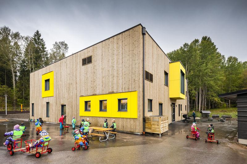 Prefab Wood-Clad Preschools