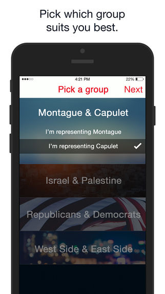 Political Peacemaking Apps