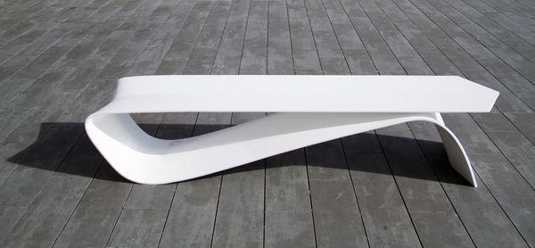 Minimalist Pin-Shaped Benches
